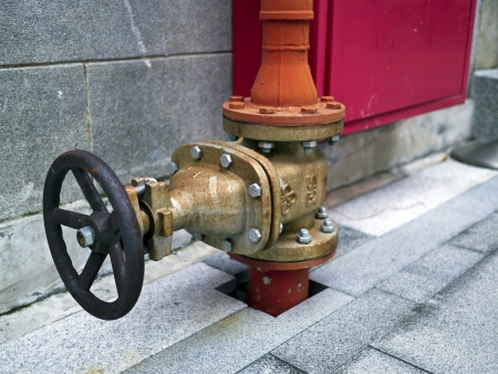 industrial valve on street photo