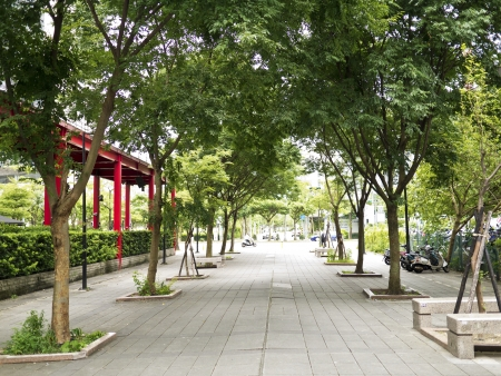 green plaza in Taipei city photo