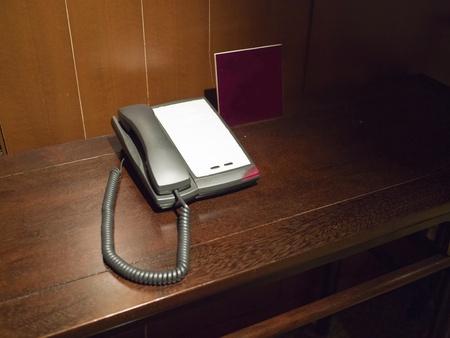 house telephone on table photo