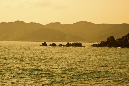 scenery of seacoast in twilight Stock Photo - 17738503