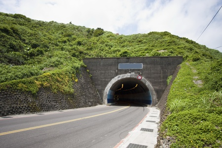 view of road tunnel along seaside,Taiwan Stock Photo - 17737038