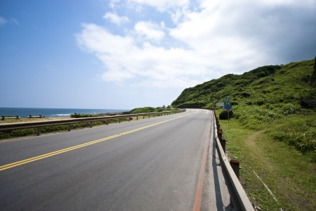 Coastal Road and Sea in Summer, Taiwan
