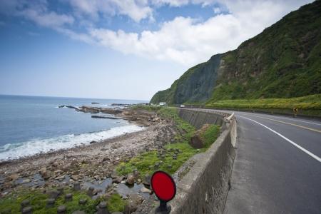 Coastal Road and Sea in Summer, Taiwan