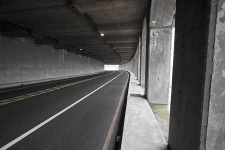 view of road tunnel along seaside,Taiwan Stock Photo - 17736051