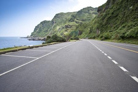 Coastal Road and Sea in Summer, Taiwan photo