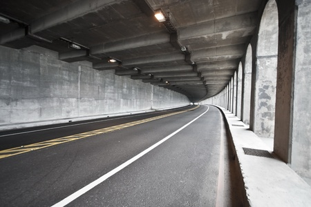 view of road tunnel along seaside,Taiwan Stock Photo - 17736232