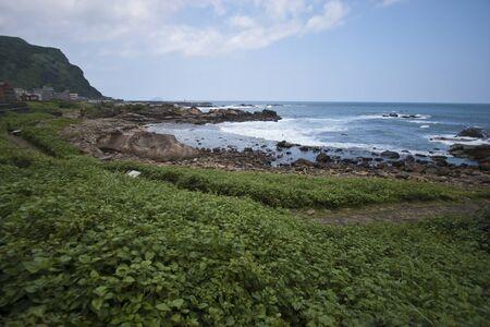 landscape of Pacific Ocean coast, New Taipei City, Taiwan Stock Photo - 17736614