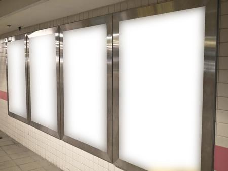 blank billboard in public space
