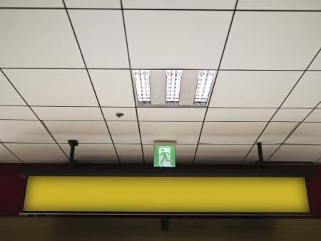 blank billboard in metro station photo