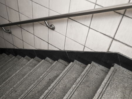 underground passage: stairs From underground passage with many steps
