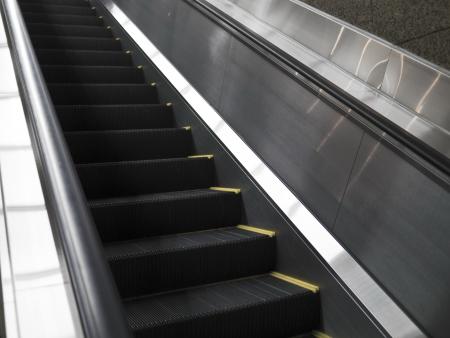 Empty escalator stairs in the Terminal ( underground Mall ) Stock Photo