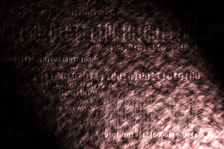 abstract tech binary code background photo