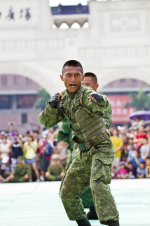 discovery channel: Taipei, TAIWAN-JUNE 16,2013:Taiwans principal special operations force display in Discovery Channel program at CKS memorial Hall on JUNE 16,2013 in Taipei,Taiwan Editorial