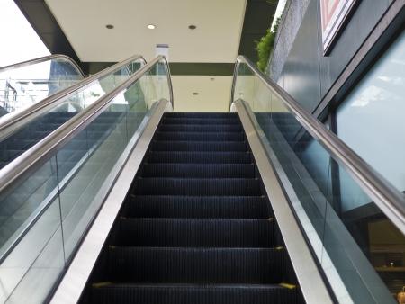 Empty escalator stairs in the Terminal ( underground Mall ) photo