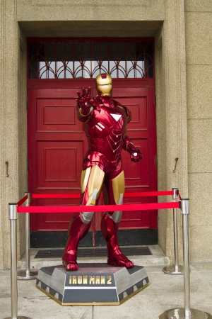 New Taipei City , Taiwan : July 21 : novel ironman character display in the Summer Cosplay Festival in 435 Art Zone , July 21 , 2013 in New Taipei City,Taiwan