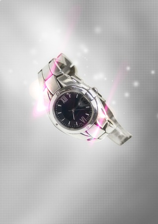 show bill: Reloj de pulsera de los hombres inteligentes es lo mejor para todas las ocasiones Foto de archivo