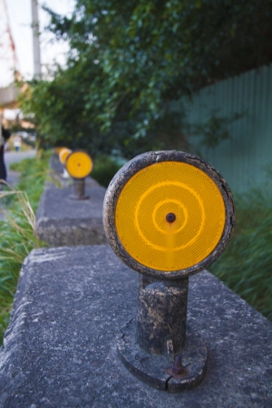 Reflector on the side of the road Stock Photo - 24389019