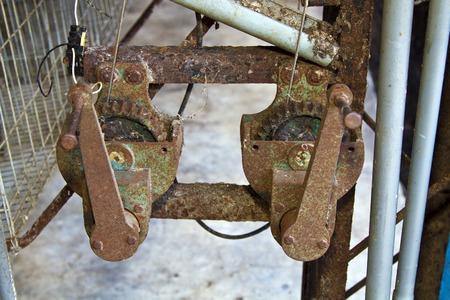 Old rusty gear wheel Stock Photo - 24563135
