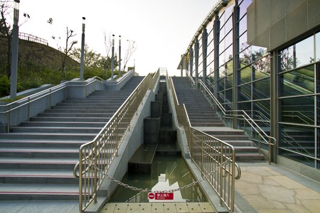 the new MRT station (Daan Park Station) in Taipei photo