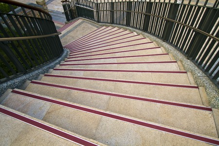 Spiral Stairs in the open park in Taipei photo