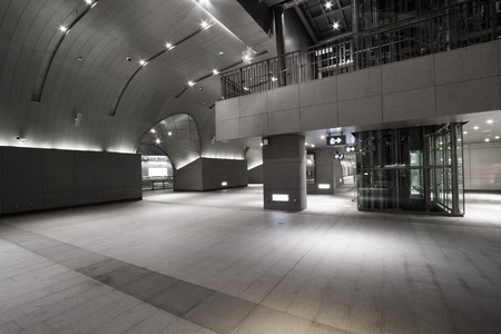 walkway of the Daan MRT station,interior of the modern building