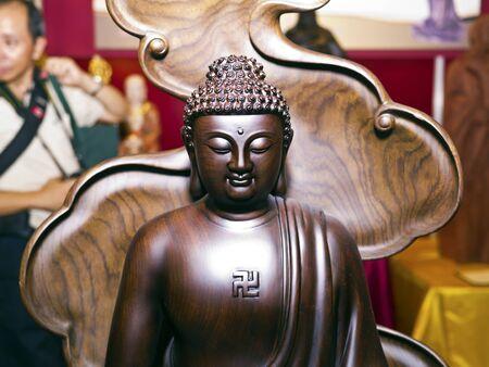 gautama buddha: Taipei, Taiwan - Sep 9, 2013: various buddha sculpture display in Taipei world trade center on Sep 9,2013 in Taipei,Taiwan.this is Gautama buddha sculpture Editorial