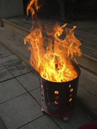 burning money: ancestor Worship on Chinese New Year and burning ghost money