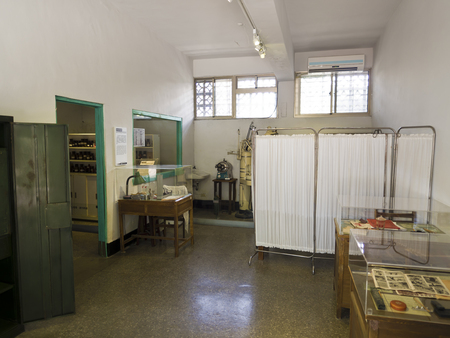 dissidents: Taipei, Taiwan - JULY 29, 2015: Dental room in Jing-Mei Human Rights Memorial and Cultural Park ,it was Jingmei Military Detention Centre for political dissidents during the White Terror period.