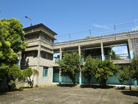 Taipei, Taiwan - JULY 29, 2015: guard tower of Jing-Mei Human Rights Memorial and Cultural Park ,it was Jingmei Military Detention Centre for political dissidents during the White Terror period.