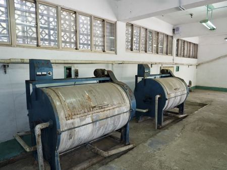 Taipei, Taiwan - JULY 29, 2015: laundry in Jing-Mei Human Rights Memorial and Cultural Park ,it was Jingmei Military Detention Centre for political dissidents during the White Terror period.