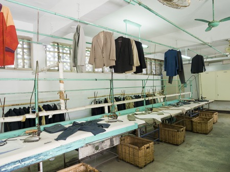 dissidents: Taipei, Taiwan - JULY 29, 2015: Ironing Room in Jing-Mei Human Rights Memorial and Cultural Park ,it was Jingmei Military Detention Centre for political dissidents during the White Terror period.