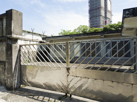 Taipei, Taiwan - JULY 29, 2015: single prison cell of Jing-Mei Human Rights Memorial and Cultural Park ,it was Jingmei Military Detention Centre for political dissidents during the White Terror period.