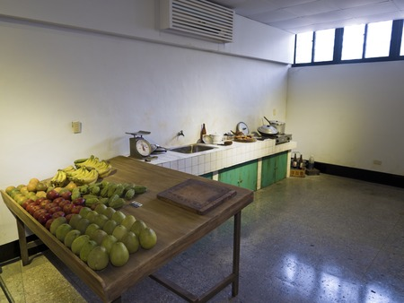 martial law: Taipei, Taiwan - JULY 29, 2015: kitchen in Jing-Mei Human Rights Memorial and Cultural Park ,it was Jingmei Military Detention Centre for political dissidents during the White Terror period.