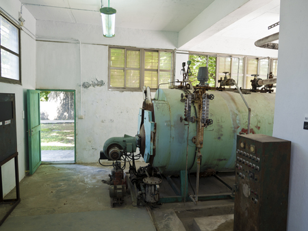 Taipei, Taiwan - JULY 29, 2015: Boiler room of Jing-Mei Human Rights Memorial and Cultural Park ,it was Jingmei Military Detention Centre for political dissidents during the White Terror period.