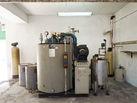 martial law: Taipei, Taiwan - JULY 29, 2015: Boiler room of Jing-Mei Human Rights Memorial and Cultural Park ,it was Jingmei Military Detention Centre for political dissidents during the White Terror period.