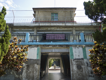 imprison: Taipei, Taiwan - JULY 29, 2015: Prison Jail of Jing-Mei Human Rights Memorial and Cultural Park ,it was Jingmei Military Detention Centre for political dissidents during the White Terror period. Editorial