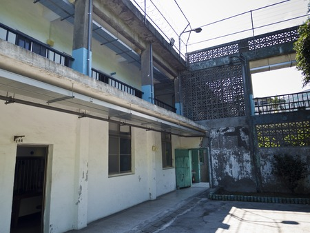 martial law: Taipei, Taiwan - JULY 29, 2015: Prison Jail of Jing-Mei Human Rights Memorial and Cultural Park ,it was Jingmei Military Detention Centre for political dissidents during the White Terror period. Editorial