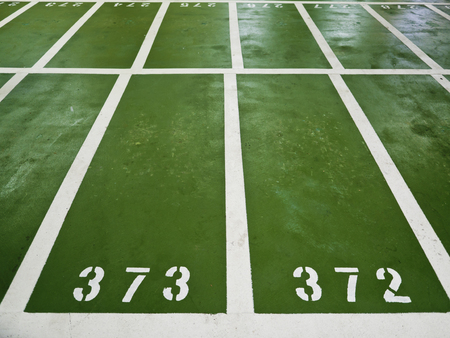 polyurethane: Polyurethane parking lots with numbers indoor