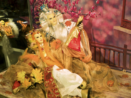 17th: Taipei, Taiwan - OCT 06, 2015: fantasy Glove puppetry in Puppetry Art Center of Taipei.a type of opera using cloth puppets that originated during the 17th century in China.