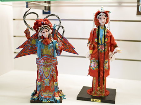 Taipei, Taiwan - OCT 06, 2015: fantasy Glove puppetry in Puppetry Art Center of Taipei.a type of opera using cloth puppets that originated during the 17th century in China.