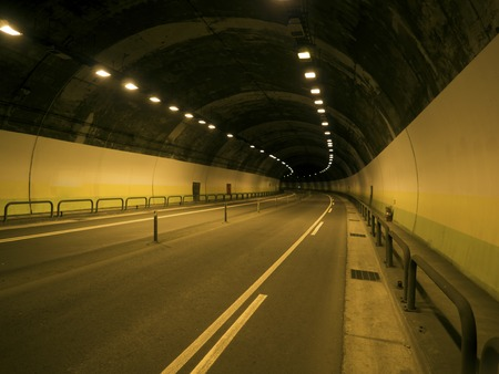 trajectory: Abstract road in the tunnel trajectory Stock Photo
