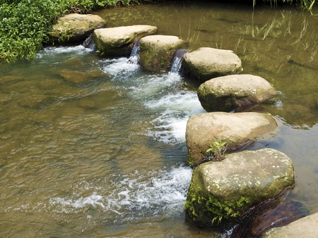 stepping: Rocky Stepping Stones Across a Beautiful Rural River
