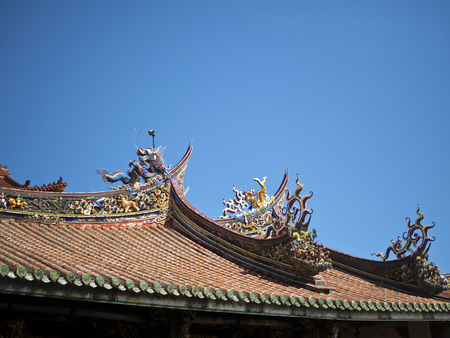 beautiful chinese temple roof in Taipei,Taiwan Stock fotó