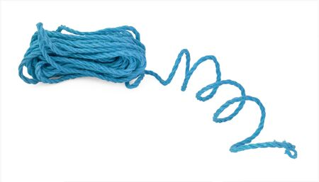 allegoric: The blue rope cord tie line in the coil
