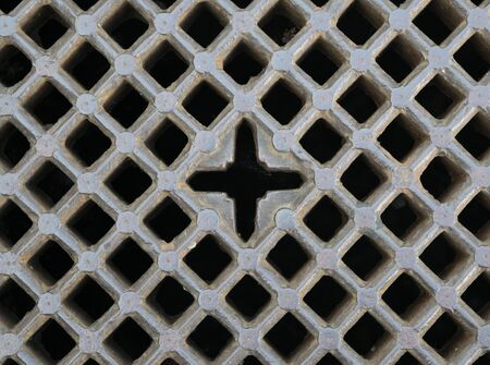 grate: iron gray sewer grate as a background
