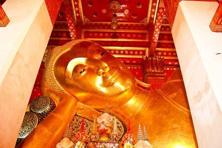 be the identity: wat pa mok angtong,center of thailand Stock Photo