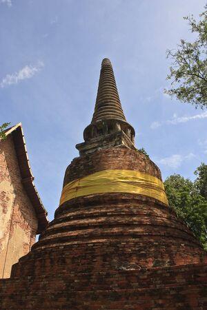 thialand: Pagoda in Ayuthaya ,center of Thialand