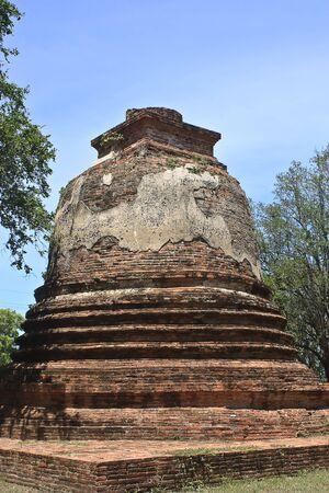 thialand: old Pagoda in Ayuthaya, center of Thialand Stock Photo