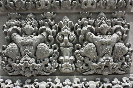 Traditional Thai style Buddhist church photo