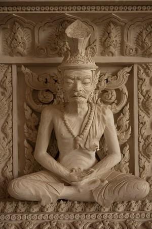 recluse: juramani temple of in thailand Stock Photo